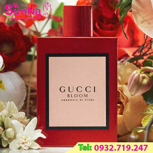 nước hoa gucci đỏ, nước hoa gucci bloom ambrosia, nước hoa gucci bloom ambrosia di fiori