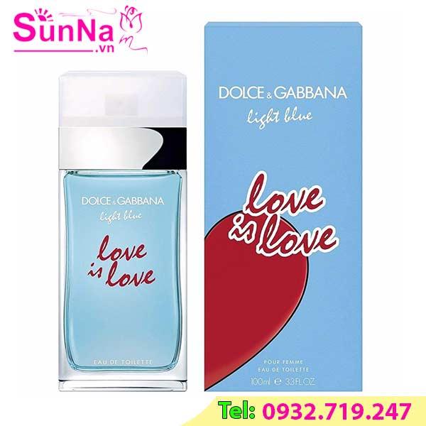 Nước hoa Dolce & Gabbana Light Blue Love Is Love Pour Femme EDT